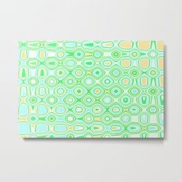 Asymmetry collection: the mint green forest, wild nature abstraction Metal Print