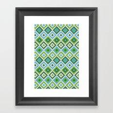 Macrame Green Framed Art Print