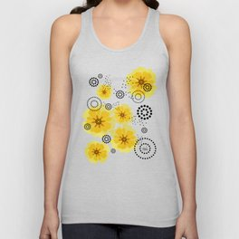 PEPPER POPPIES | yellow Unisex Tank Top