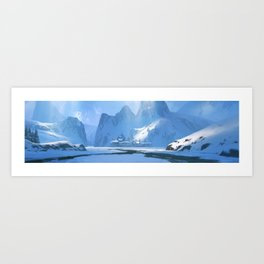 Ice Village Art Print