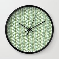 knit Wall Clocks featuring Knit Pattern by VessDSign
