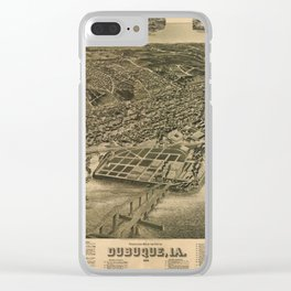 Perspective Map of Debuque, Iowa (1889) Clear iPhone Case