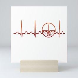 Dermatologist Heartbeat Mini Art Print