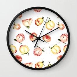 Vintage rose buds pattern Wall Clock