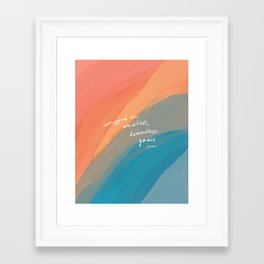 wrapped in endless, boundless grace Framed Art Print