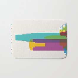 Shapes of Los Angeles accurate to scale Bath Mat