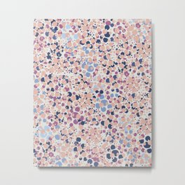 MOTAS - Spots, Dot, Coral, Pink, Blue Dots, Animal Print Metal Print