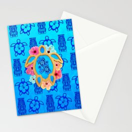 Hawaiian Blue Honu Stationery Cards