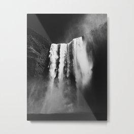 Skogafoss Spray Metal Print