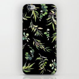 Eucalyptus and Olive Pattern  iPhone Skin