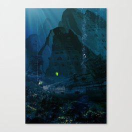 H.P. Lovecraft The Temple Canvas Print