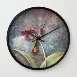 Faded Tulip Wall Clock