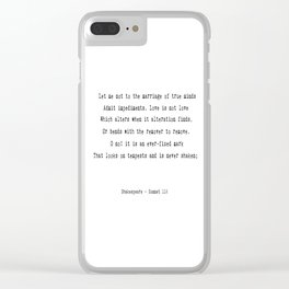 Shakespeare's Sonnet 116 Quote Clear iPhone Case