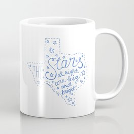 Stars at Night in blue Coffee Mug