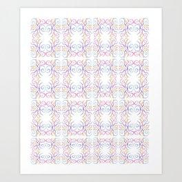 ribbon 10-ornamental,fabrics,fashion,decorative,girly,gentle Art Print