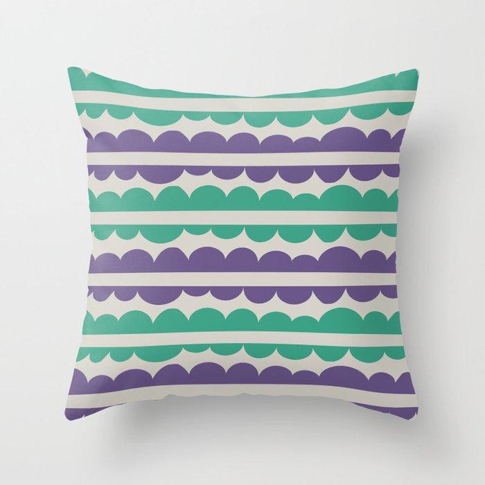 Mordidas Retro Grapes Throw Pillow