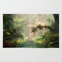 Lost City in the jungle Rug