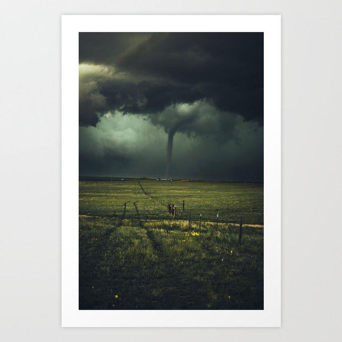 Tornado Coming (Color) Kunstdrucke