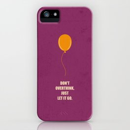 Lab No.4 -Don't Overthink Business Quotes Poster iPhone Case
