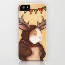 Ferdie the Christmas Reindeer Guinea Pig iPhone Case