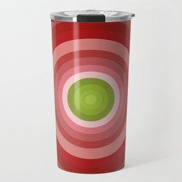Beetroot Pink Circles Travel Mug