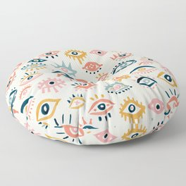 Mystic Eyes – Primary Palette Floor Pillow