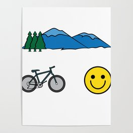 """Big fan of """"Mountain Bike""""? Grab this awesome tee and wear them anytime. Stay creative and positive! Poster"""