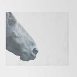Horse head - fine art print n° 2, nature love, animal lovers, wall decoration, interior design, home Throw Blanket