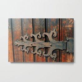 door - St. Brigid Church, San Francisco Metal Print