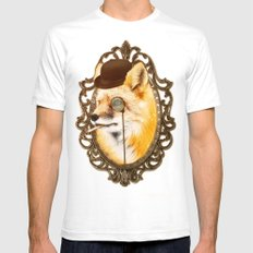 Mr Fox Mens Fitted Tee SMALL White