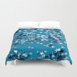 Blue Ocean Glitter Stars #1 #shiny #decor #art #society6 Duvet Cover