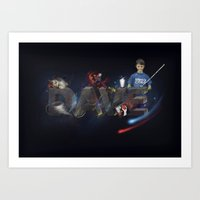dave matthews Art Prints featuring Dave by aribennett