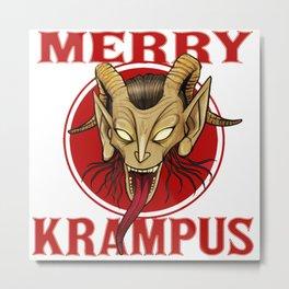 Merry Krampus Metal Print