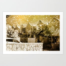 Hogsmeade Village Art Print