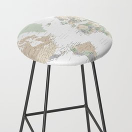 """World map with cities, """"Anouk"""" Bar Stool"""