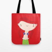 ariel Tote Bags featuring Ariel by Maria Jose Da Luz