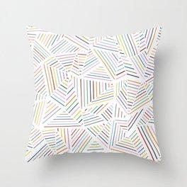 Ab Linear Rainbowz Throw Pillow