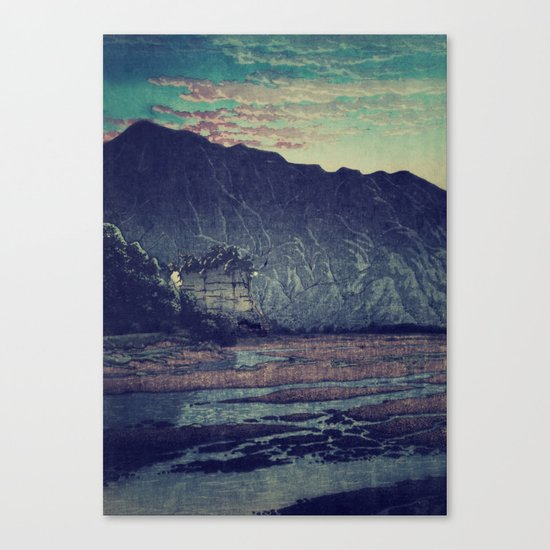 As the Day Fades in Keniku Canvas Print