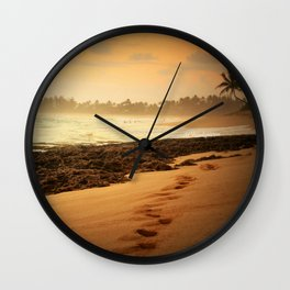 Sunset in Hawaii Wall Clock