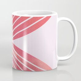 Minimal Fall Leaf - Earthy Watercolor Coral Coffee Mug