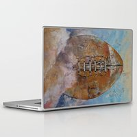 football Laptop & iPad Skins featuring Football by Michael Creese