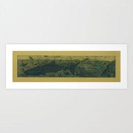 Sea Life Etching - Sepia Art Print