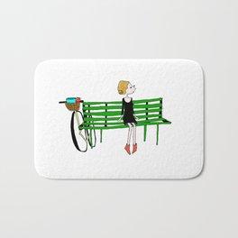 BIKE LOVE bench gal Bath Mat