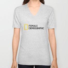 Female Demographic Unisex V-Neck