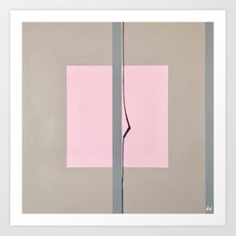 'In the Pink'  Abstract acrylic on canvas Art Print