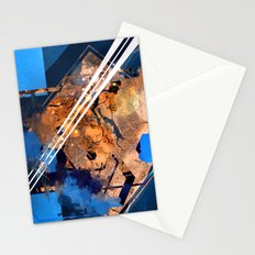 Abstraction, Orange and Blue Stationery Cards