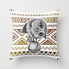 Pygmy Owl Throw Pillow