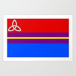 Polyamory Flag Art Print