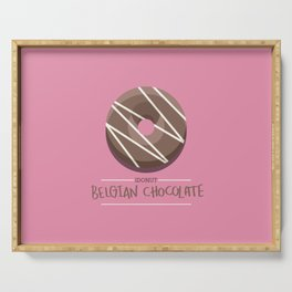 1DONUT - Belgian Chocolate Serving Tray