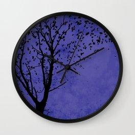 Purple Flight Wall Clock